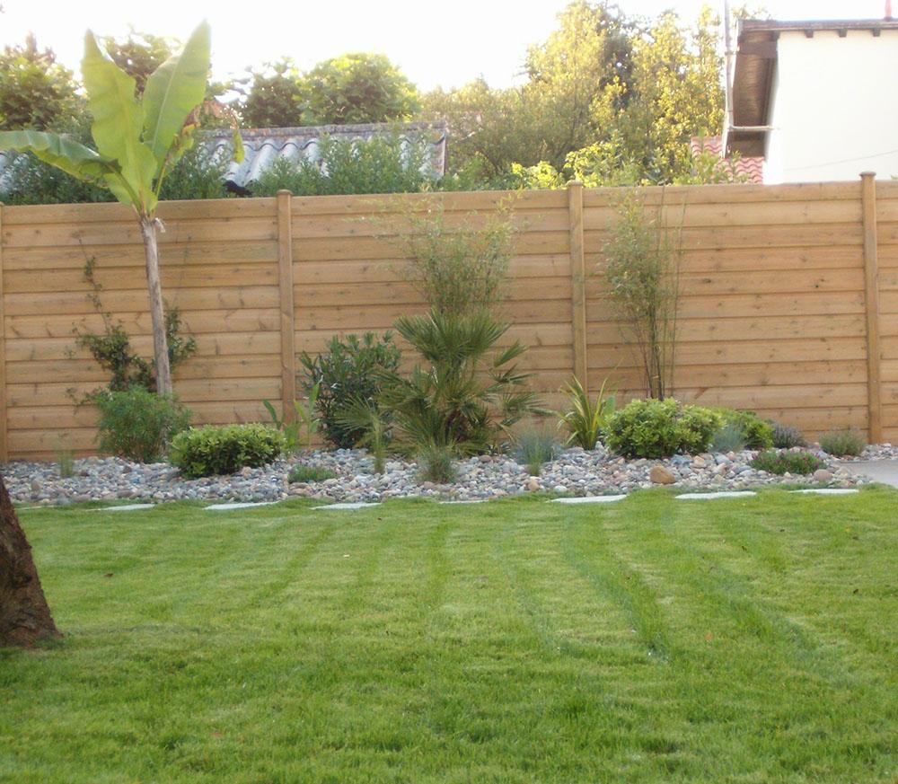 Cl tures de jardin en bois b ton mixtes et brise vent Cloture en bois jardin